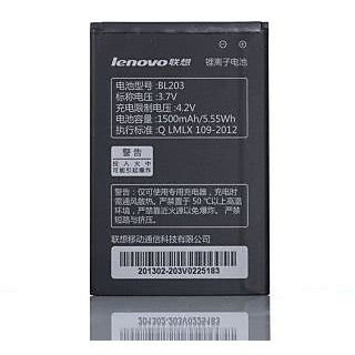 Batere Lenovo Bl203 Battery Bl 203 Baterai 100 original lenovo bl203 bl 203 battery for a278t a308t a318t a365e a369i a66
