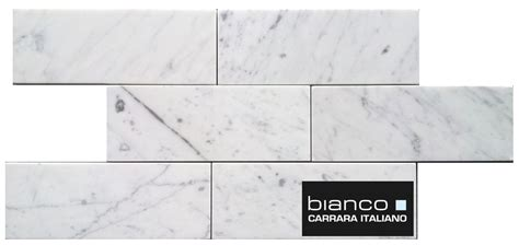 7 50sf carrara carrera bianco honed 3x6 subway mosaic tile 7 50sf carrara subway 3x8 quot marble tile