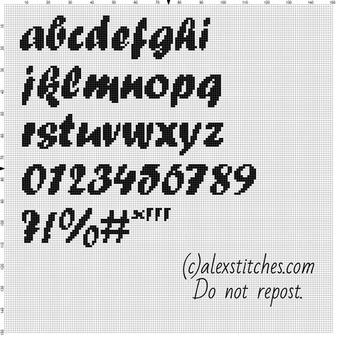 html pattern only letters and numbers cross stitch alphabet forte font lowercase letters numbers