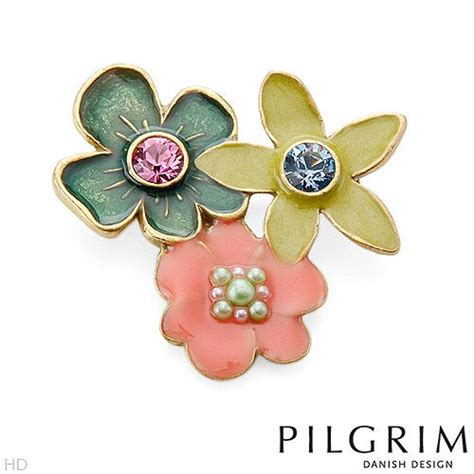 7 Pretty Brooches And Pins by Pretty Flower Brooch With Crystals And Faux Pearls Http