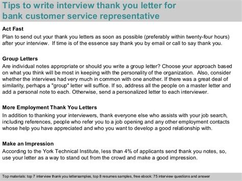 Bank Thank You Letter To Client Bank Customer Service Representative