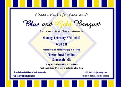 cub scout blue and gold program template cub scout invitation templates