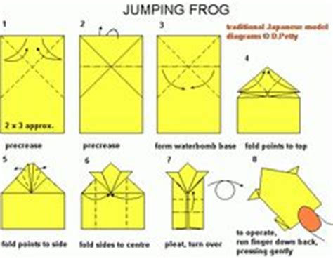 Index Card Origami - make an origami jumping frog from an index card copy