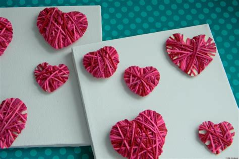 easy valentines day ideas s day ideas make these easy yarn hearts with