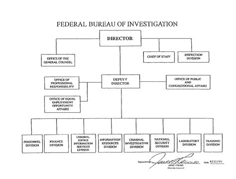 fbi organizational chart audit report 98 17 supplemental information and appendix