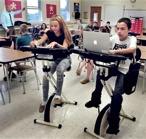 bicycle desks motivate china middle school students portland press herald