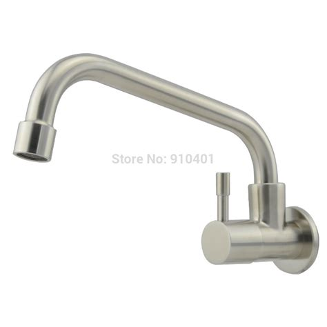 Kitchen Wall Faucets Wholesale And Retail Promotion Wall Mounted Kitchen Faucet Single Handle For Cold Water Facuet