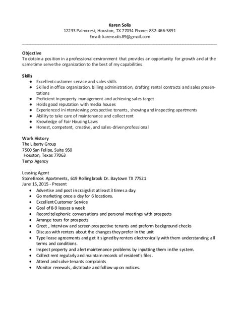 leasing consultant resume example leasing manager resume if you