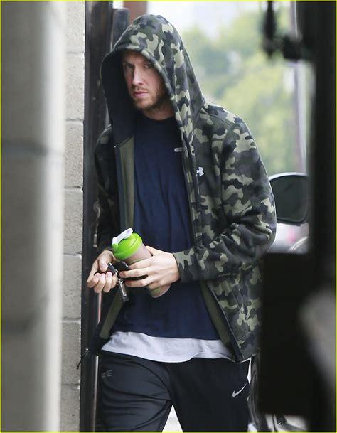 Hoodies Calvin Harris calvin harris hits the in camouflage hoodie photo