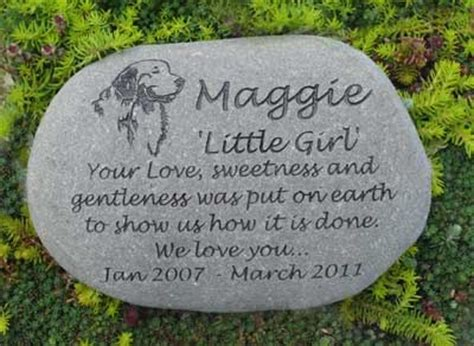 memorial stones for dogs large pet memorial stones