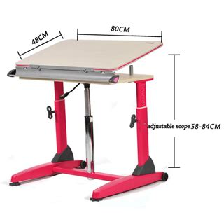 Height Adjustable Cranked Study Table For Kids And Height Adjustable Desk India