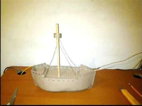 como hacer los tres barcos de cristobal colon barco carabela maqueta sencilla youtube