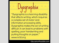 25+ best ideas about Dysgraphia on Pinterest ... Lesson Accommodations For Students With Adhd