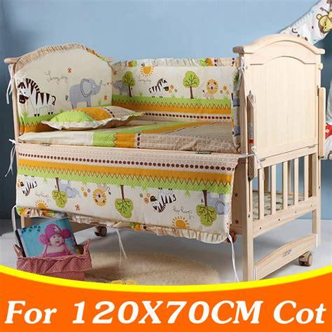 Boys Cot Bedding Set 5pcs Set 120x70cm Newborn Baby Crib Bedding Set For Boys Bedding Set Baby Cot Bumper