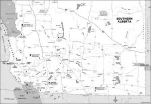 map of southern alberta canada trans canada highway road trip calgary to vancouver