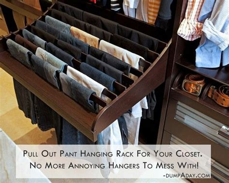 pull out pant hanging rack diy