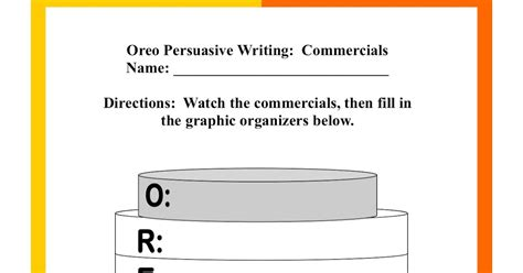 oreo template for persuasive writing adventures of room 129 persuasive writing lesson