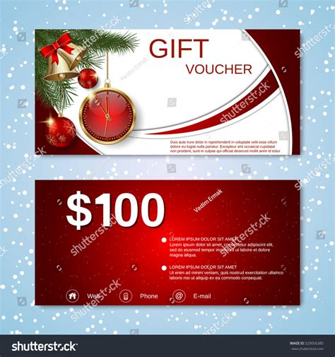 new year gift voucher new year discount coupon gift stock vector
