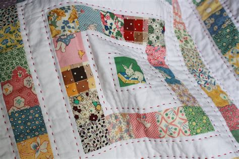 How To Make A Stitch Quilt by Work In Progress Wednesday Vintage Baby Quilt Stitch Fancy