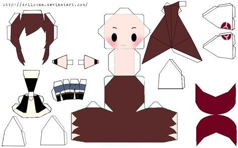 Chibi Papercraft - trainer chibi papercraft template pictures to pin