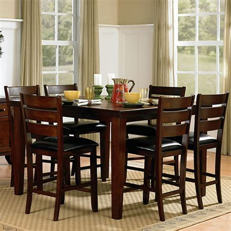 5 Piece Counter Height Dining Set With Butterfly Leaf
