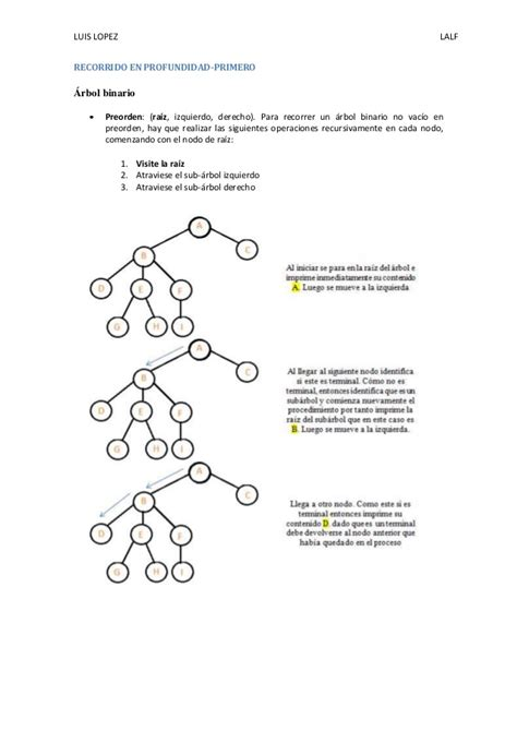 arbol binario preorden 225 rbol binario