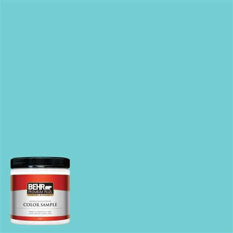 behr premium plus 8 oz p460 3 soft turquoise interior exterior paint sle pp10416 the home