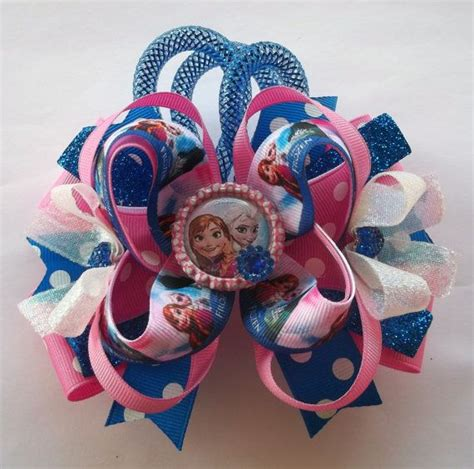 Handmade Bows - frozen handmade twisted boutique hair bow tbb hair bow