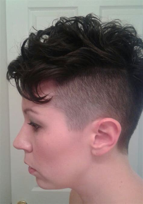 short edgy undercut hairstyles favorite women s mohawk short hair pixie undercut