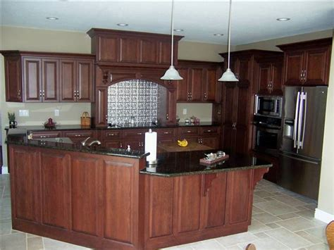 Cherry Cabinets With Granite Countertops by Custom Kitchen Cabinets Ds Woods Custom Cabinets