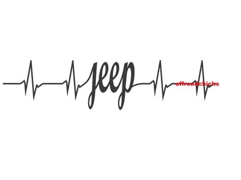 jeep heartbeat heartbeat decal