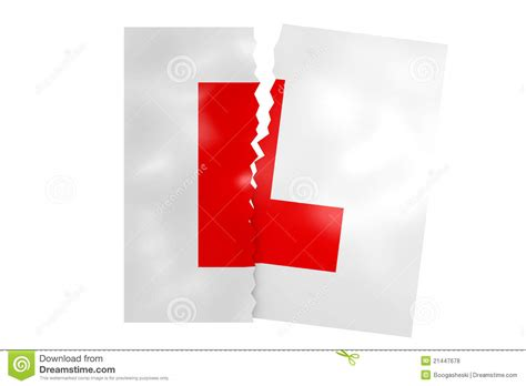 torn up l plates royalty free stock photos image 21447678