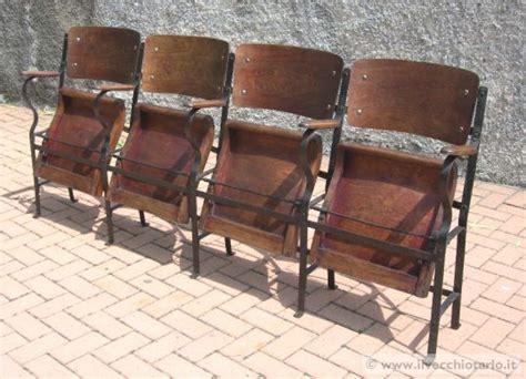 sedie cinema legno vecchie sedie cinema legno