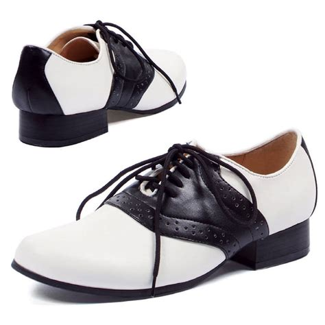 womens 1950s black and white saddle shoes costume craze