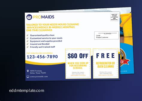 usps direct mail templates cleaning service business direct mail eddm template