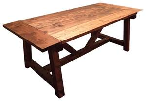 Restaurant Kitchen Table Trestle Farmhouse Table With Breadboards Farmhouse Dining Tables By Glenview Floor Works