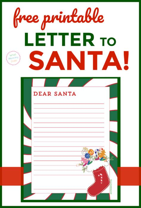 printable dear santa letter kids mommy