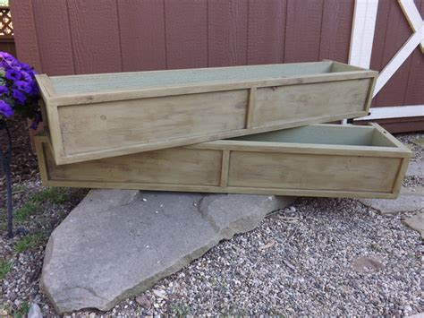 Wood Window Planter Boxes by Distressed Cedar Window Box Planter Box Flower Box Wood