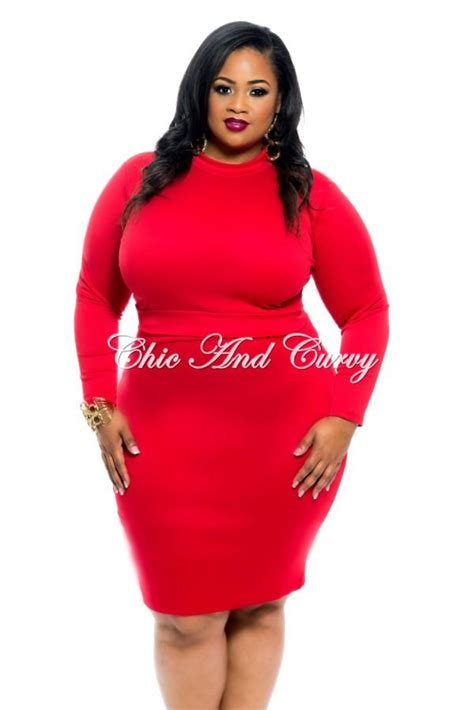 Back Set Topskirt Size Ml new plus size 2 set sleeve crop top and pencil skirt with g chic and curvy