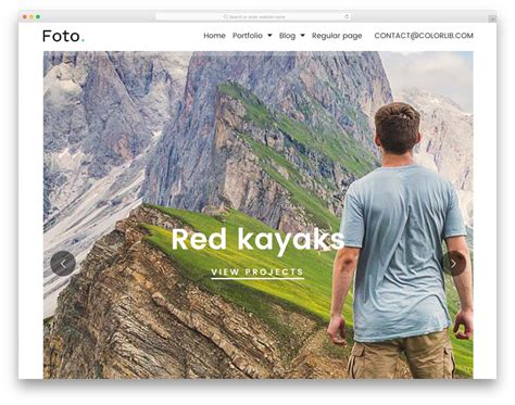 template foto foto free html photography website template colorlib