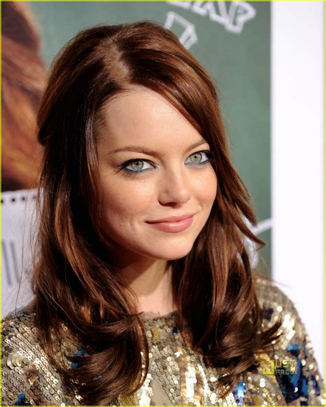 auburn brown hair color pictures emma stone easy a in l a photo 2480168 aly