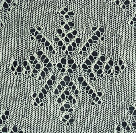 snowflake lace knitting pattern snowflake stole details