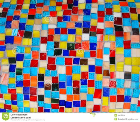 White Concrete Wall by Colorful Squares Mosaic Tiles Stock Photos Image 33610713