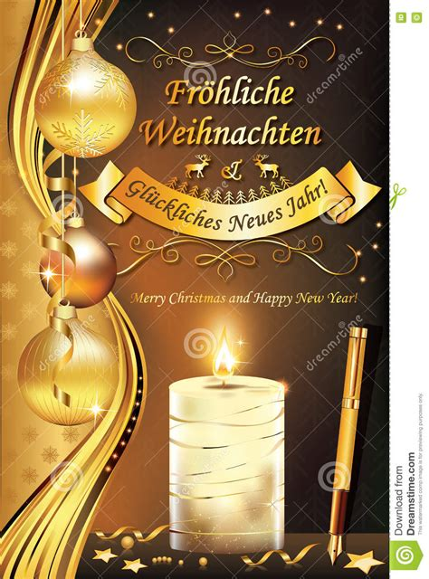 german greeting card merry christmas  happy  year stock photo image  background
