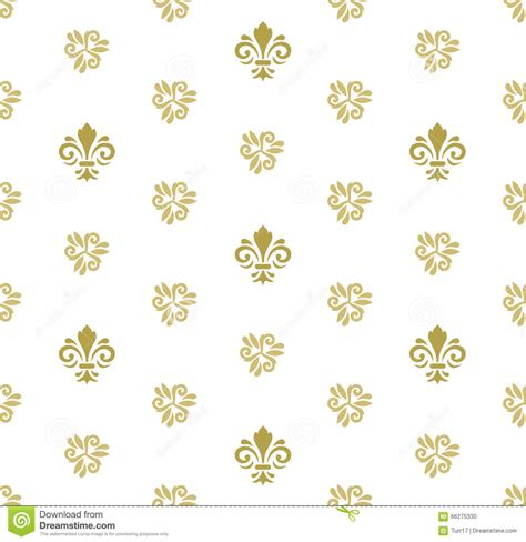 pattern royal vector seamless vector pattern with royal lily cartoon vector