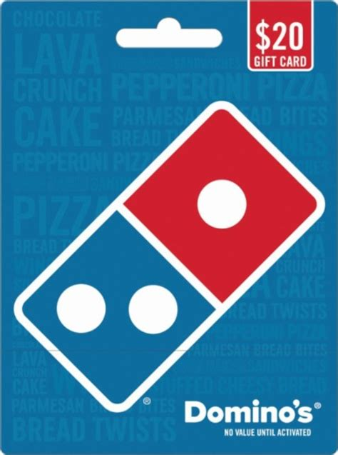 Dominos Pizza Gift Card - domino s pizza 20 gift card blue domino s 20 gift card best buy