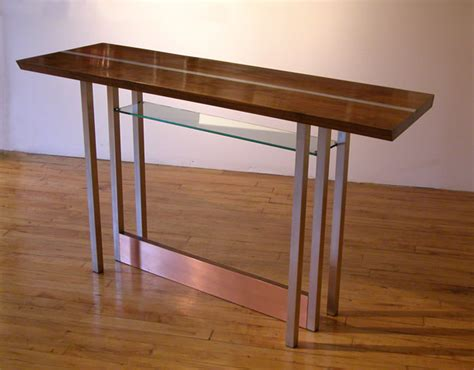 Bar table bar table walnut aluminum