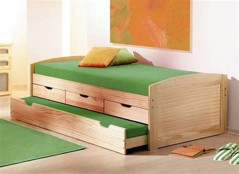 betten laden ausziehbett in 90x200 cm aus massivholz kinderbett ben