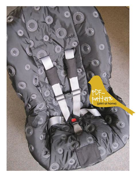 auto car seat cover sewing pattern toddler car seat cover pdf instant sewing pattern