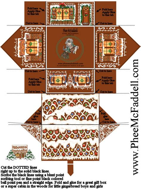Paper Gingerbread House Craft - the world s catalog of ideas